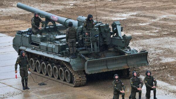 "Rosyjska armata samobieżna  2S7M ""Małka"" - Sputnik Polska"