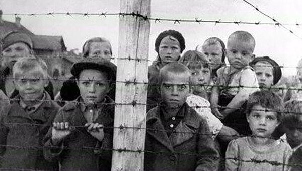 Dzieci w fińskim obozie koncentracyjnym w Pietrozawodsku. - Sputnik Polska