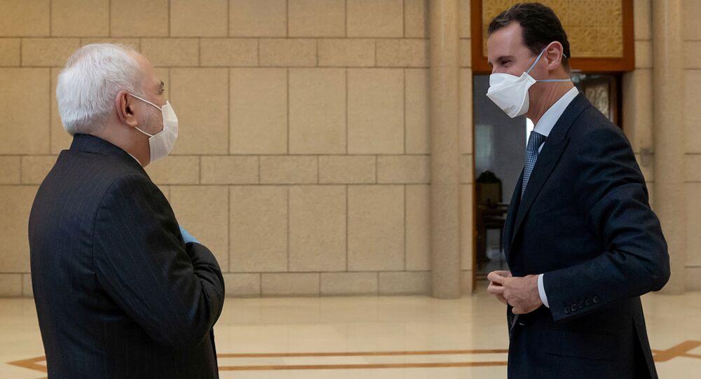 Prezydent Syrii Baszar al-Asad i szef MSZ Iranu Muhammad Dżawad Zarif