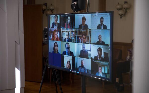 Wideokonferencja z udziałem ministra spraw zagranicznych Rosji Siergieja Ławrowa i przedstawicielami Fundacji im. Aleksandra Gorczakowa - Sputnik Polska