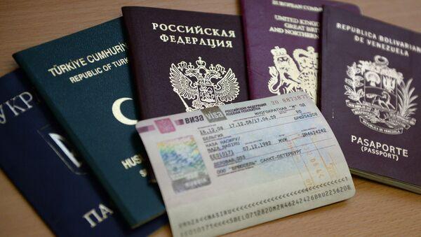 Paszporty różnych państw i wiza do Rosji - Sputnik Polska