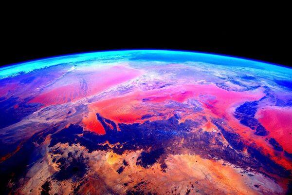Zdjęcie Ziemi wykonane przez astronautę Scotta Kelly'ego  - Sputnik Polska