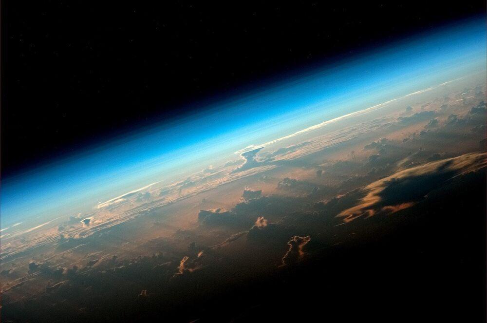 Widok na Ziemę z MSK, zdjęcie wykonane przez kosmonauta Roskosmosa Olega Artemejewa