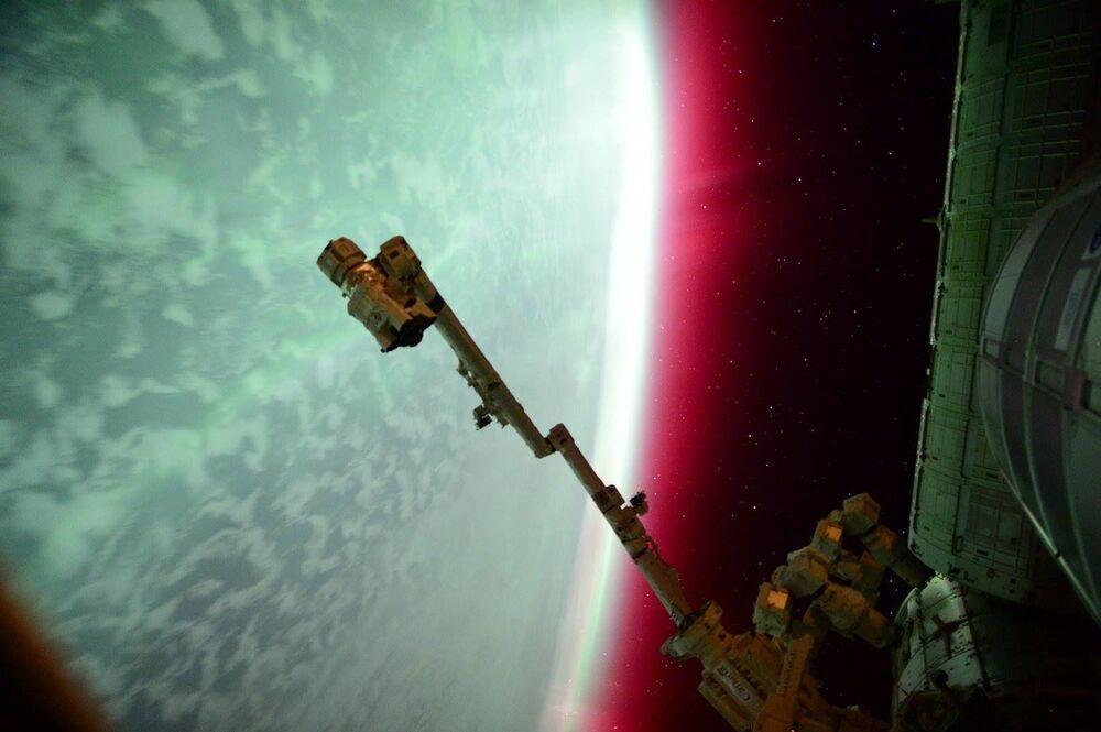 Zorza polarna widziana z MSK
