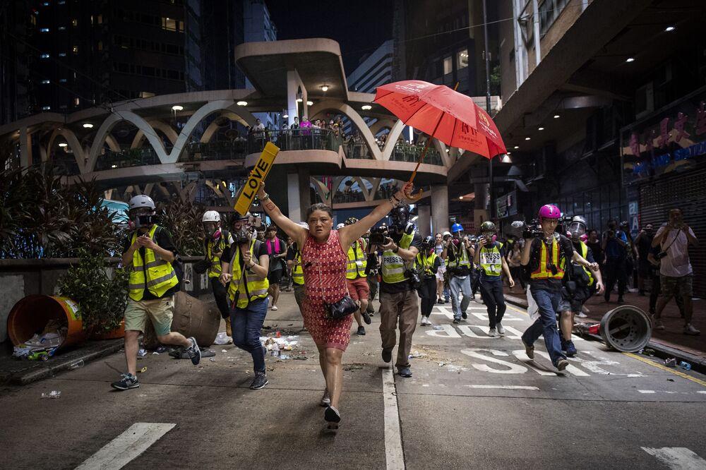 """Reportaż Hong Kong Unrest, fot. Nicolas Asfouri, 1. miejsce w kat. """"Wiadomości ogólne"""""""