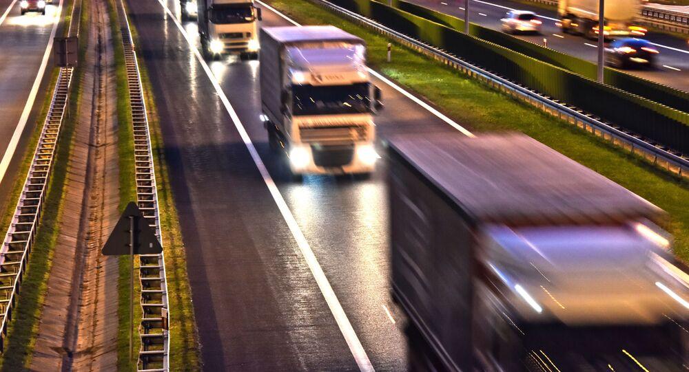 Ciężarówki na polskiej trasie