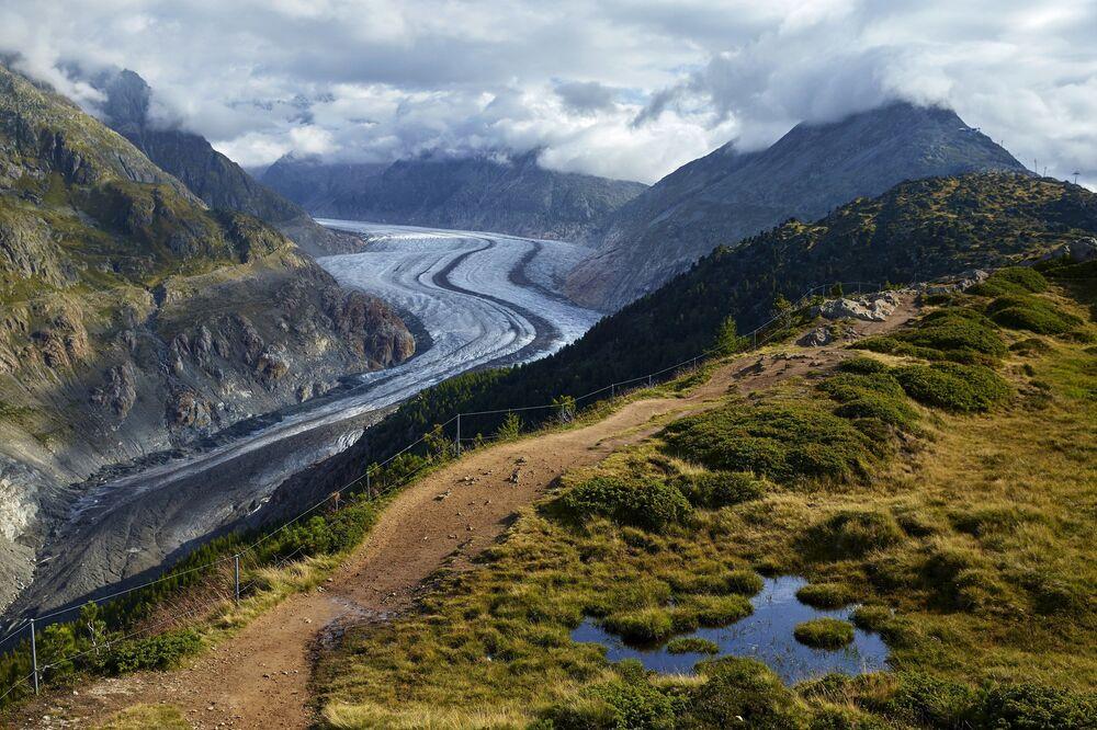 Aletschgletscher, największy lodowiec Alp