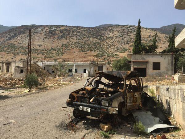 W miejscowości El-Furu, z której armia syryjska wyparła bojowników z grupy Dżabhat an-Nusra - Sputnik Polska