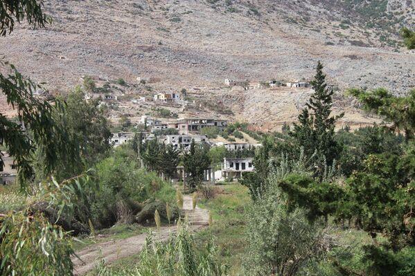 Miejscowość Saf-Safa (prowincja Hama), z której armia syryjska wyparła bojowników z grupy Dżabhat an-Nusra - Sputnik Polska