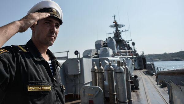 Rosyjski okręt Floty Czarnomorskiej przed wypłynięciem na Morze Śródziemne - Sputnik Polska