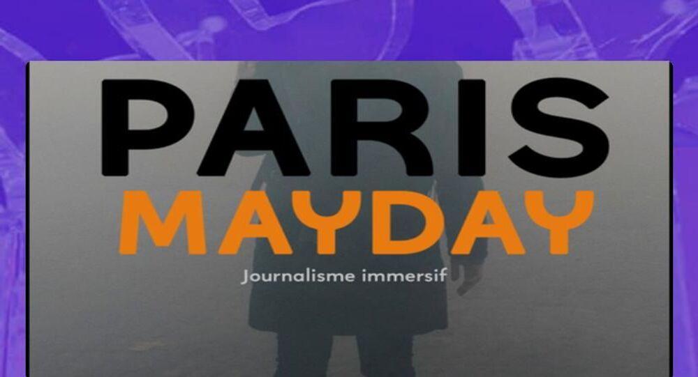 """Reportaż panoramiczny """"Paris mayday""""."""