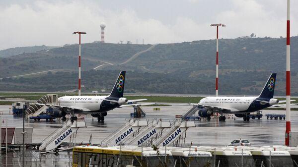 Samoloty na lotnisku w Atenach - Sputnik Polska