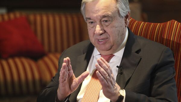 Sekretarz generalny ONZ António Guterres - Sputnik Polska