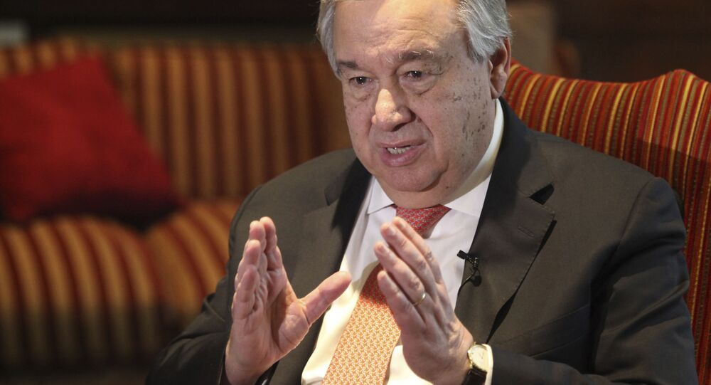 Sekretarz generalny ONZ António Guterres.
