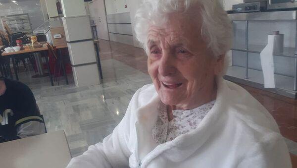 106-letnia Hiszpanka Ana del Valle, która przeżyła hiszpankę i koronawirusa - Sputnik Polska
