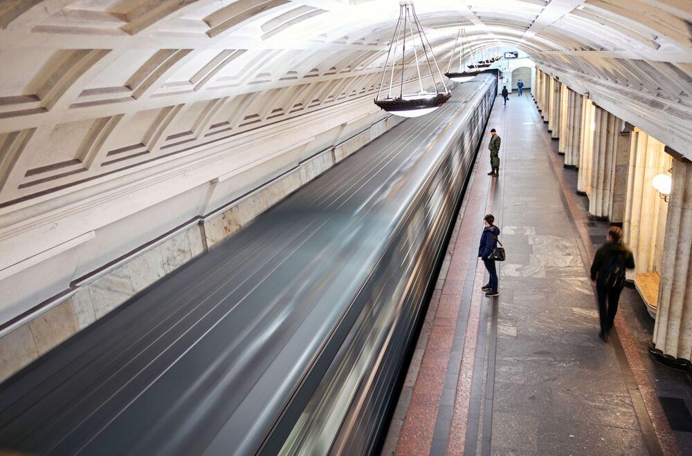 """Stacja moskiewskiego metra """"Ochotnyj riad"""""""