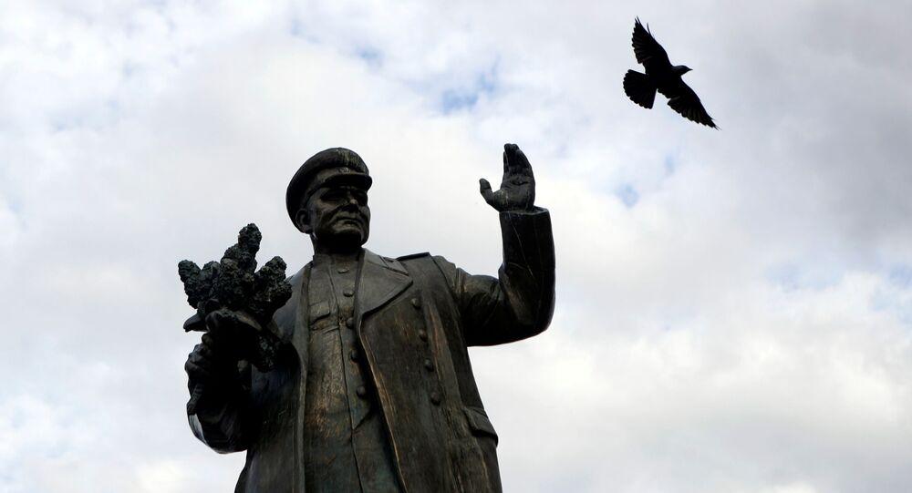 Zdemontowany pomnik Koniewa w Pradze