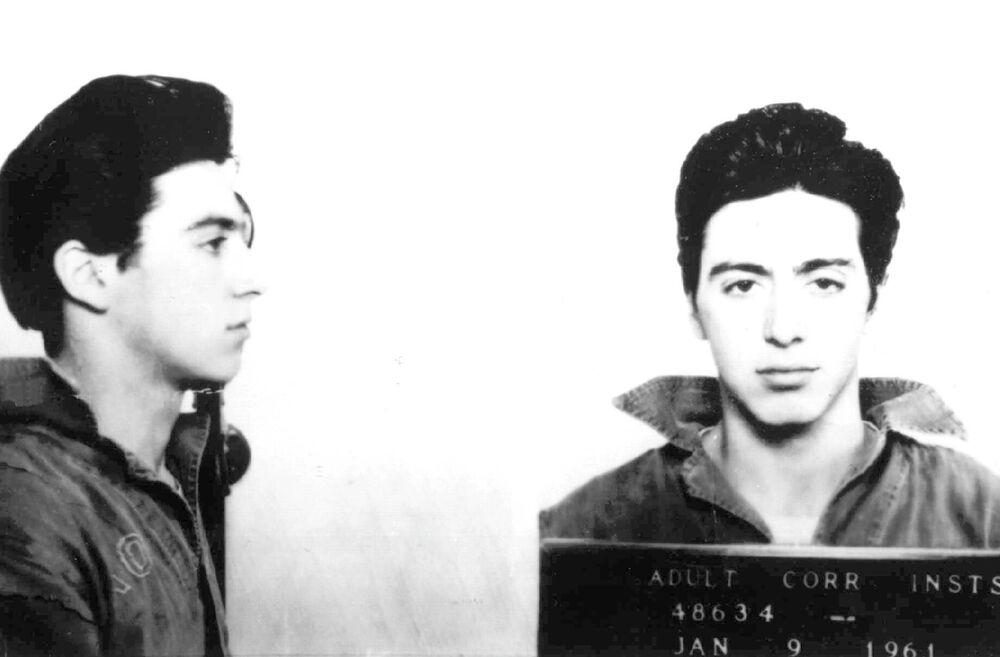 Aktor Al Pacino po aresztowaniu. 9 stycznia 1961 r