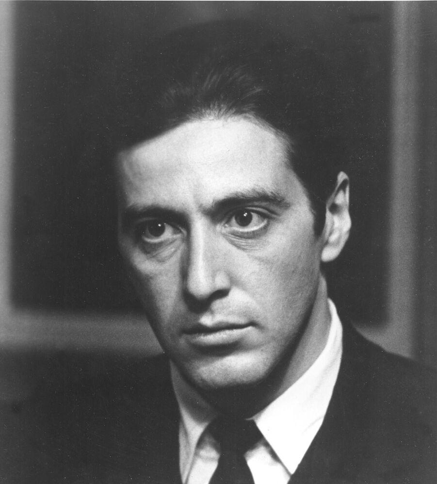 Aktor Al Pacino w filmie Ojciec chrzestny