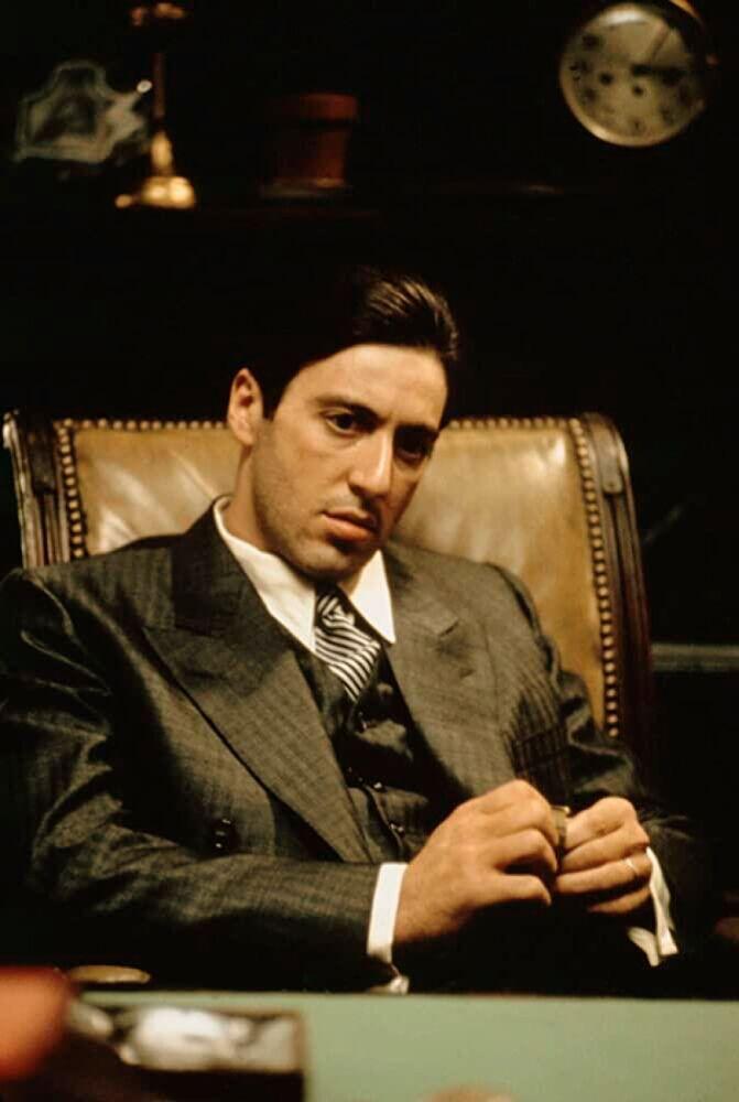 """Aktor Al Pacino jako Michael Corleone w """"Ojciec chrzestny"""""""
