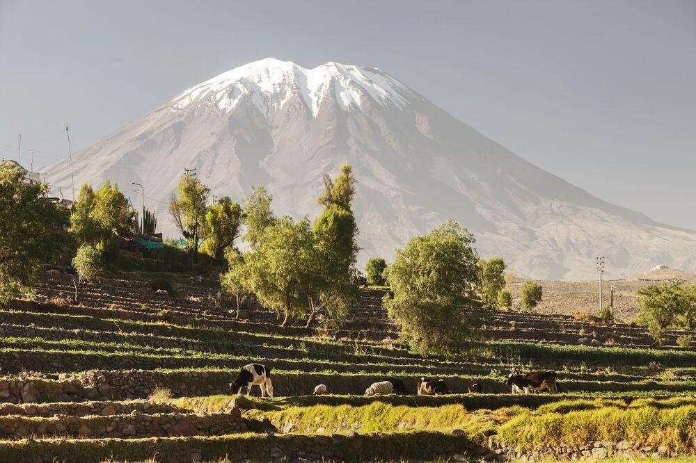 Wulkan El Misti w południowym Peru