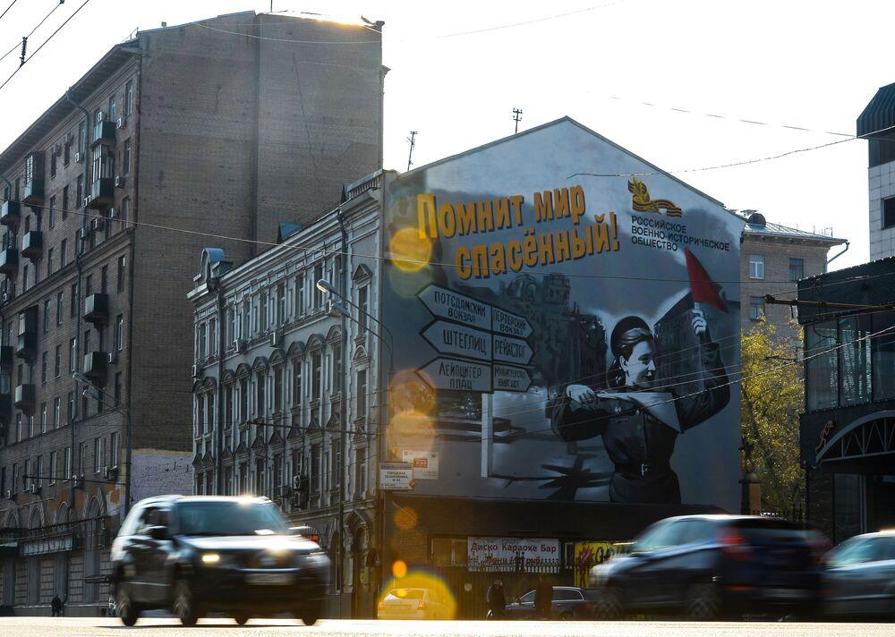 Graffiti Maksima Toropowa przedstawiające Bohaterów Wielkiej Wojny Ojczyźnianej