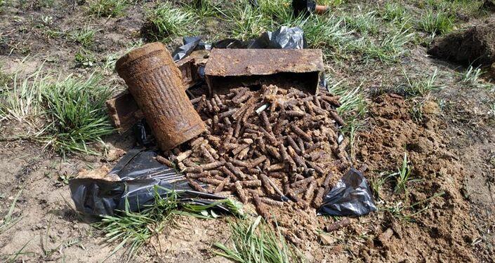 Odkrycie szczątków niemieckiego żołnierza w Obwodzie Kaliningradzkim