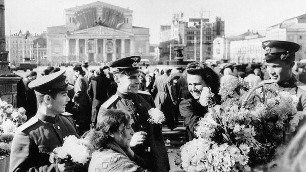 Uroczystości na placu pod teatrem Bolszoj - Sputnik Polska