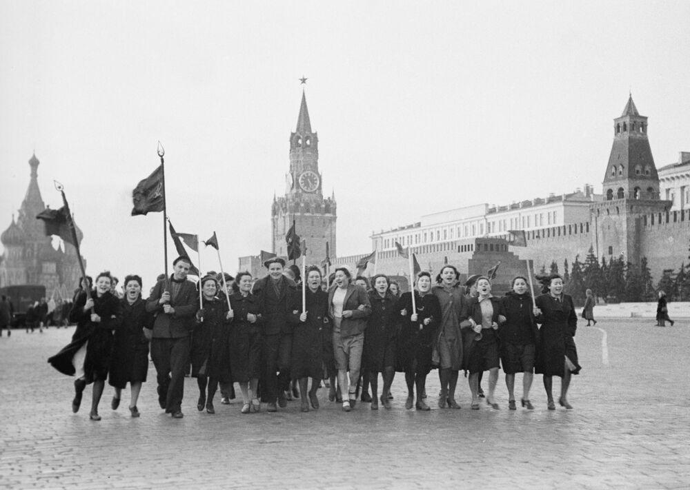 Spontaniczna demonstracja na Placu Czerwonym