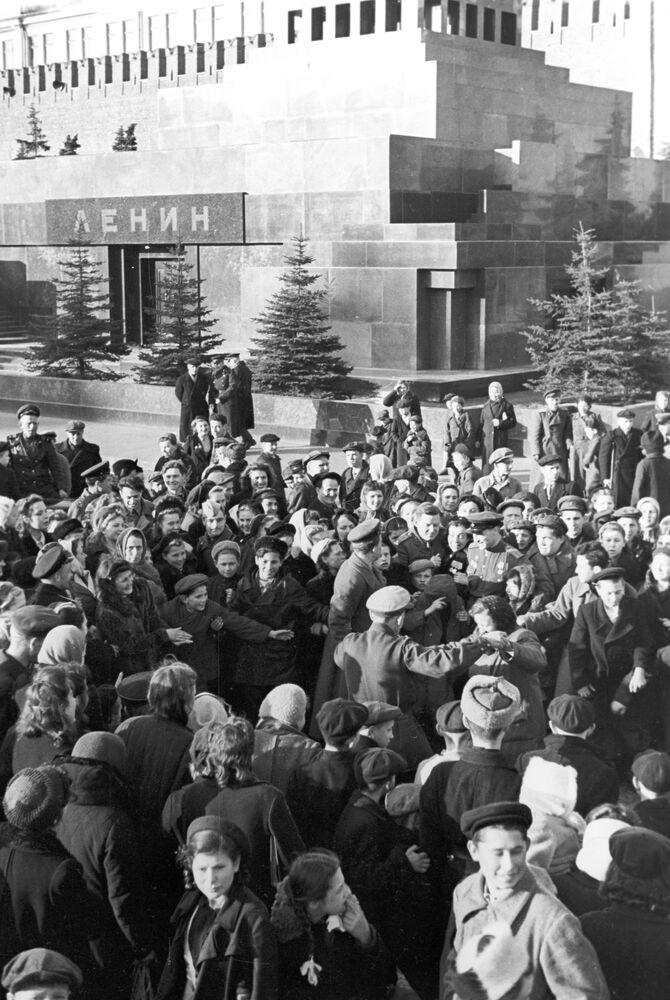 Plac Czerwony 9 maja 1945 roku
