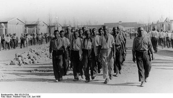 Więźniowie obozu koncentracyjnego Dachau, 1938 rok - Sputnik Polska