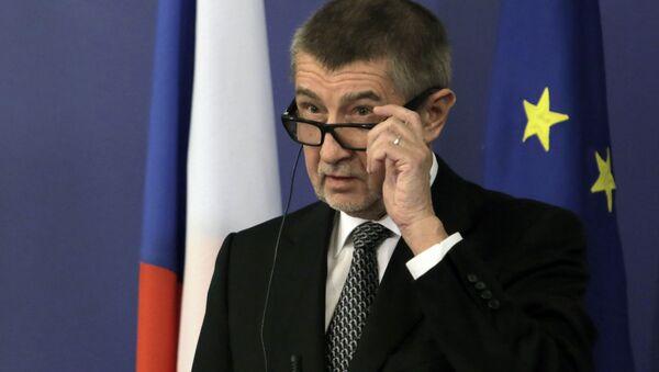 Premier Czech Andrej Babiš na konferencji prasowej w Bułgarii - Sputnik Polska