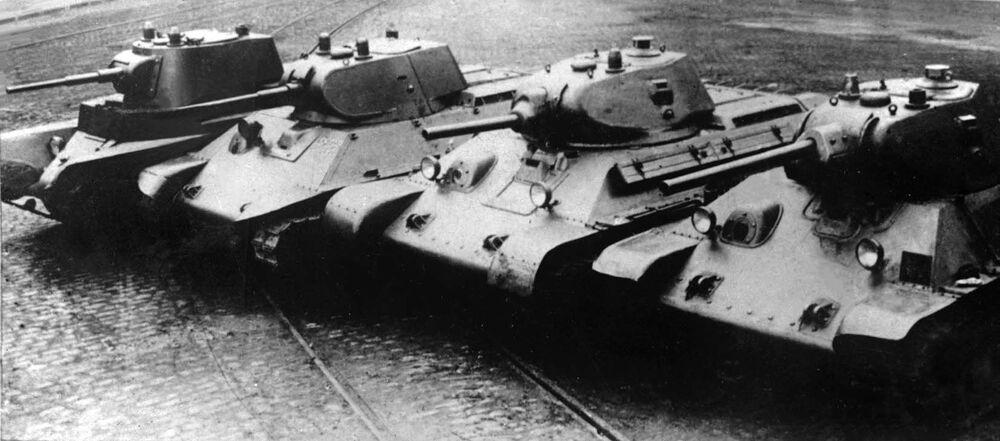 Ewolucja radzieckich czołgów