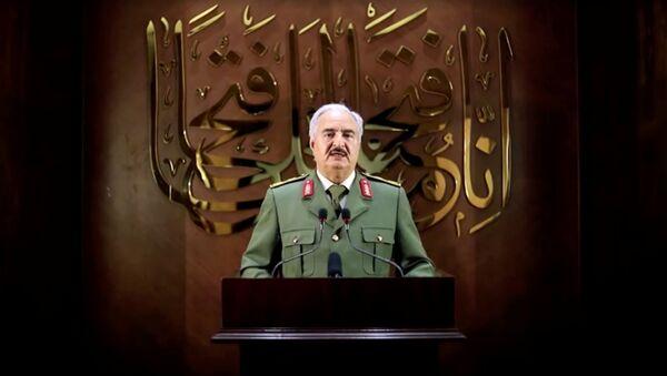 Głównodowodzący Libijskiej Armii Narodowej Chalifa Haftar - Sputnik Polska