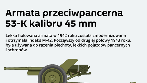 Armata przeciwpancerna 53-K kalibru 45 mm - Sputnik Polska