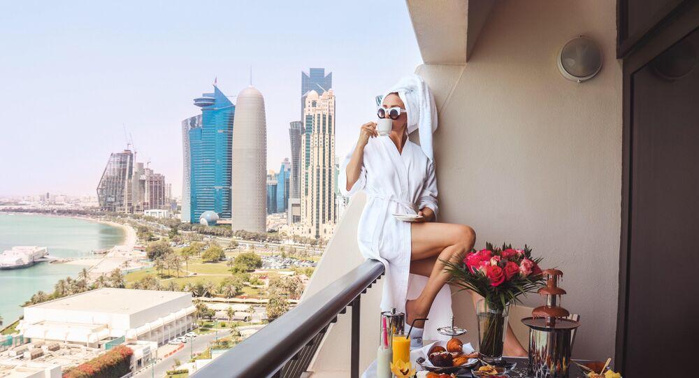 Kawa na balkonie