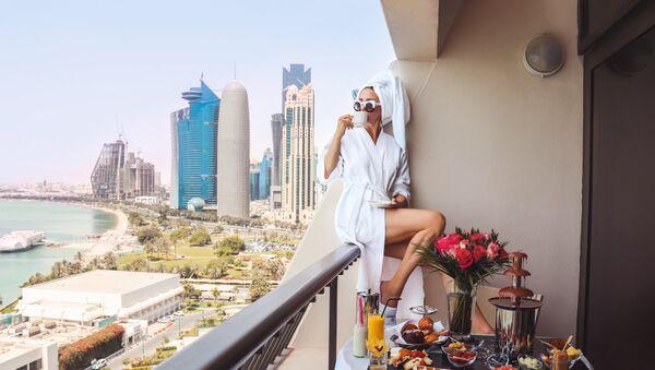 Kawa na balkonie - Sputnik Polska
