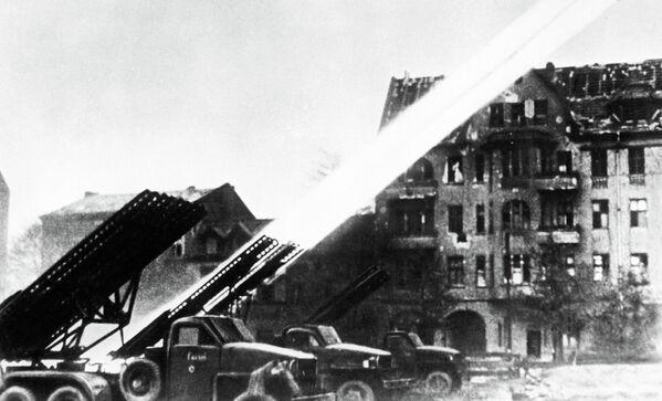 Wyrzutnie rakiet w Berlinie, 1945 rok - Sputnik Polska