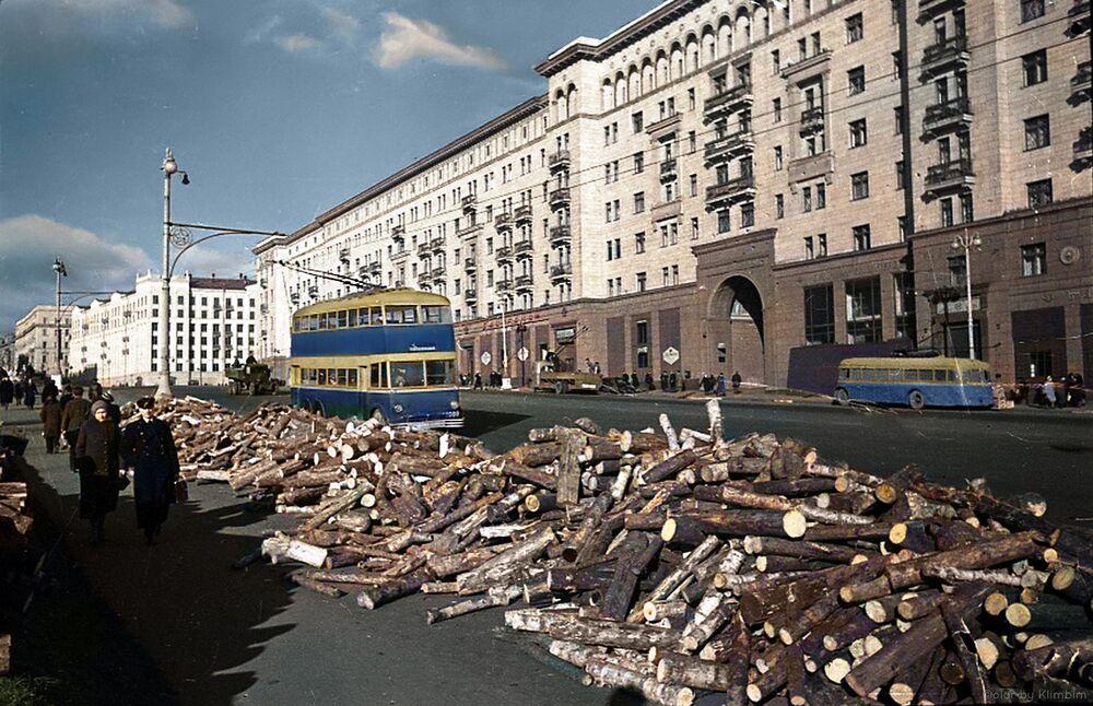 Drewno dla mieszkańców Moskwy, 1941 rok