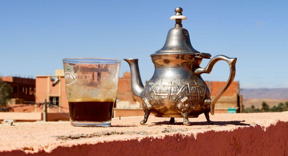 Tradycyjny marokański czajnik
