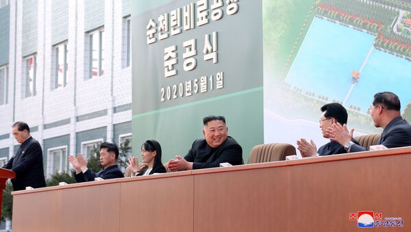 Przywódca Korei Północnej Kim Dzong Un. - Sputnik Polska