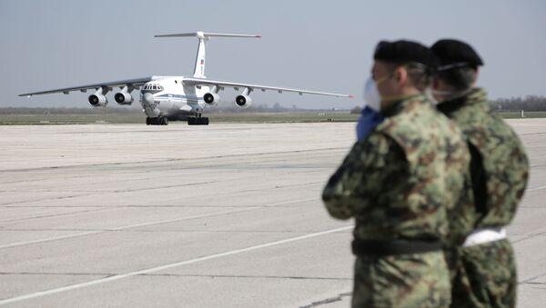 Ił-76 z pomocą humanitarną - Sputnik Polska