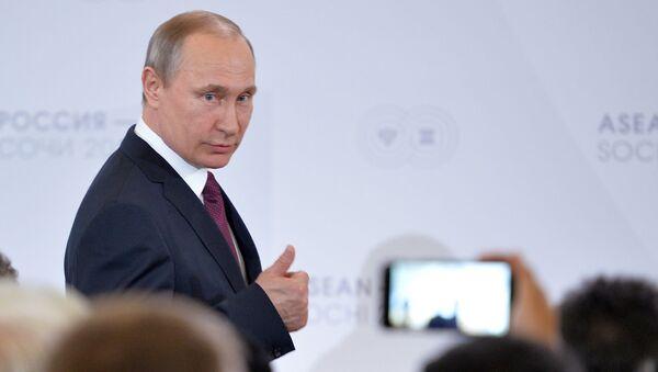 Władimir Putin na szczycie ASEAN w Soczi - Sputnik Polska