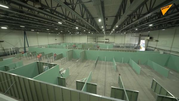 Trwa budowa nowych oddziałów dla pacjentów z COVID-19 - Sputnik Polska