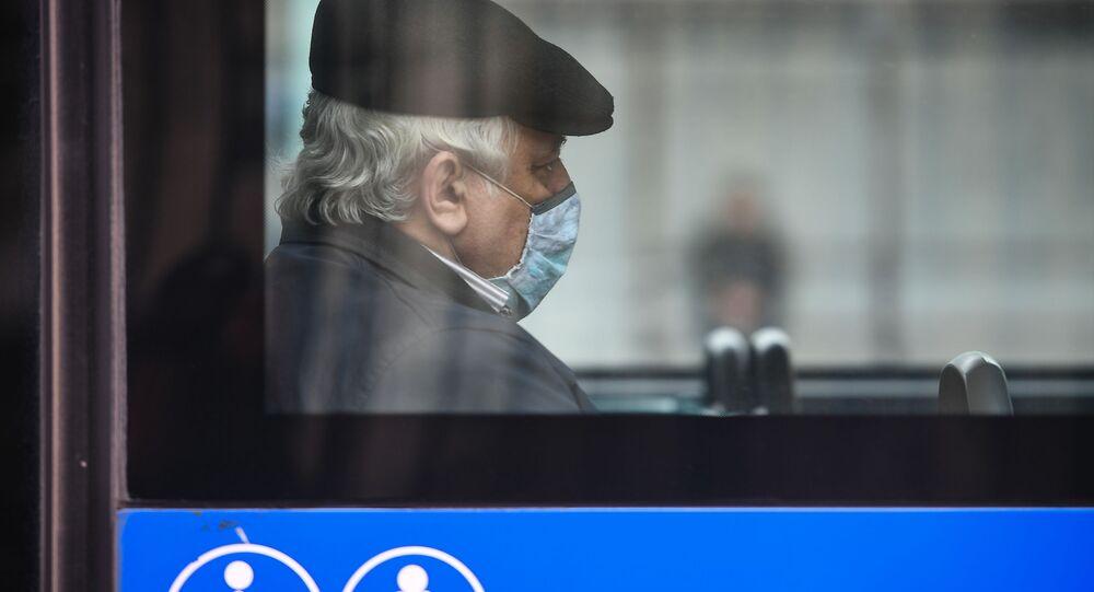 Pasażer w autobusie