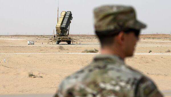 Wyrzutnia przeciwrakietowa Patriot w Arabii Saudyjskiej - Sputnik Polska