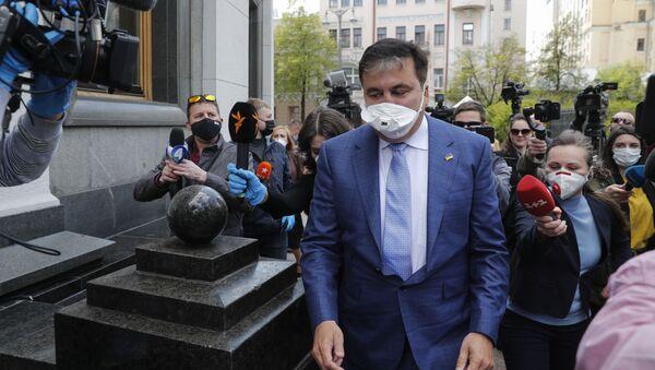 Były prezydent Gruzji i byłuy gubernator obwodu odeskiego Michaił Saakaszwili - Sputnik Polska