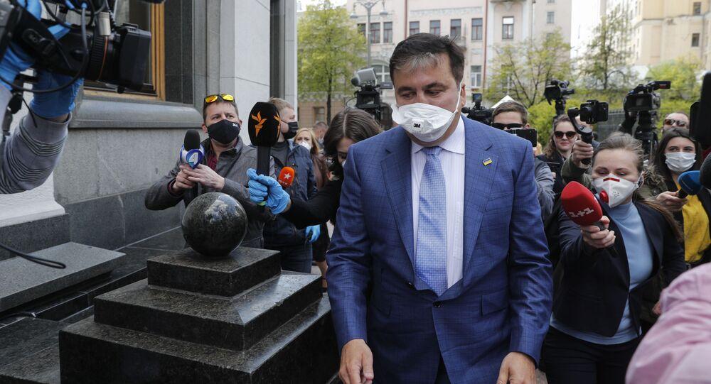 Były prezydent Gruzji i byłuy gubernator obwodu odeskiego Michaił Saakaszwili