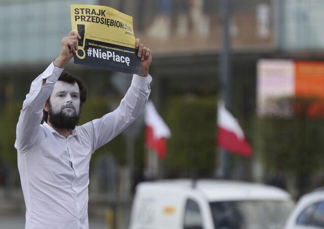 Protest przedsiębiorców w Warszawie, 7 maja 2020
