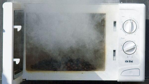 Spalona kuchenka mikrofalowa - Sputnik Polska